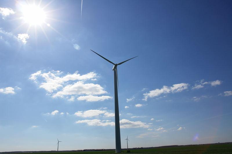 Windkraftanlage in den Niederlanden