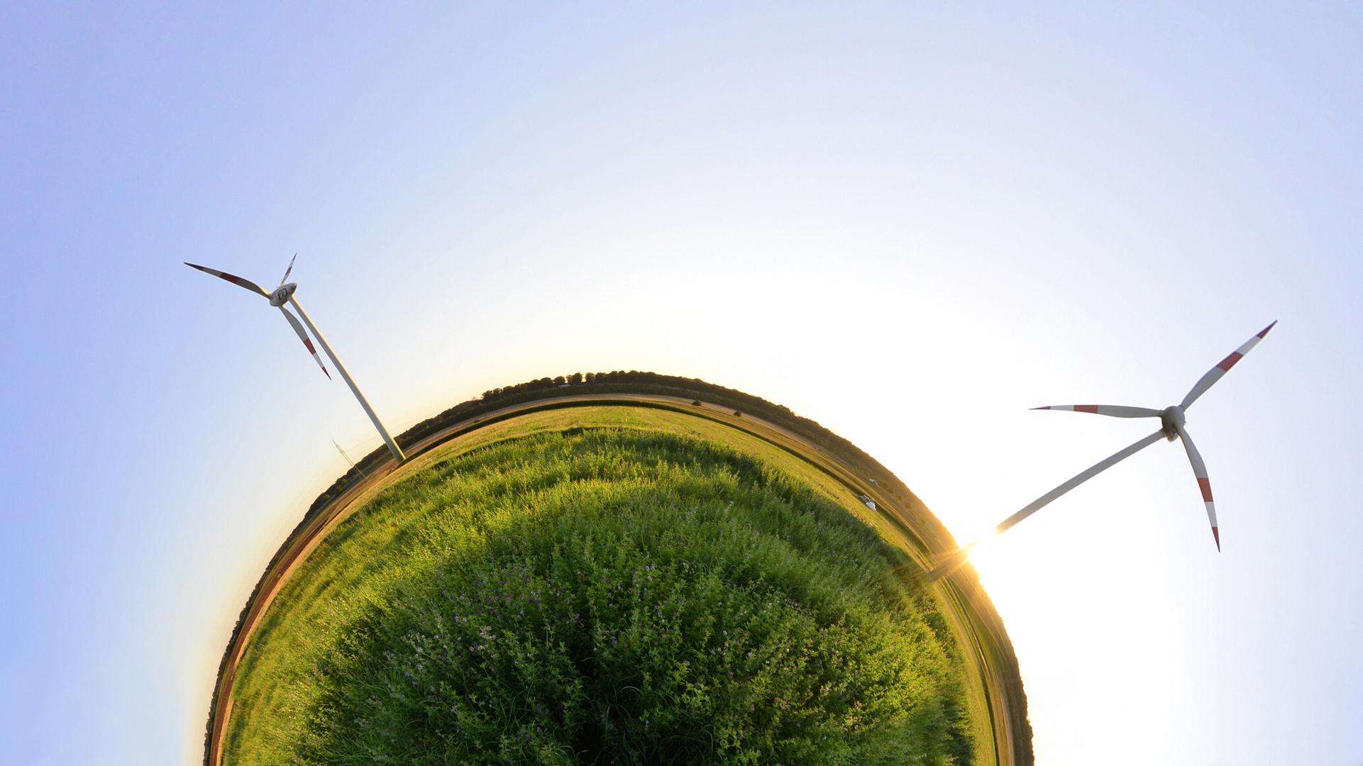 Windkraftwerke & Fisheye