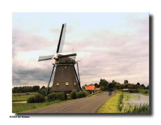 Windmill near Maasland (The Netherlands)
