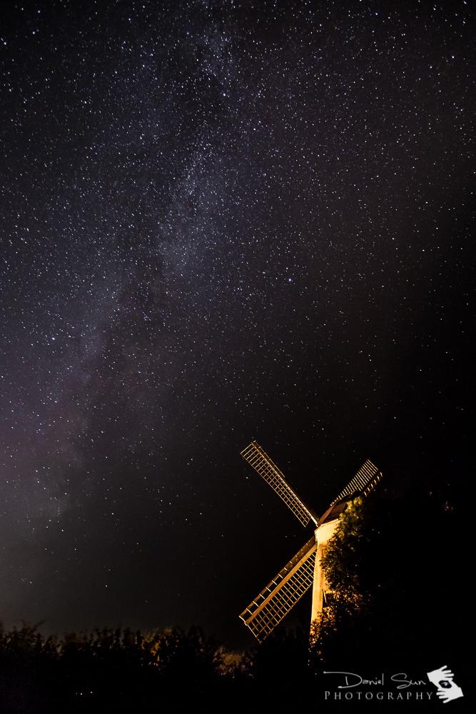 windmill under the stars
