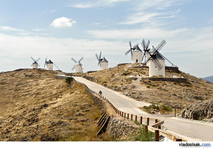 Windmills in Consuegra, Castille-La Mancha, Spain