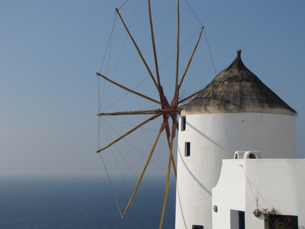 Windmühle auf Santorin