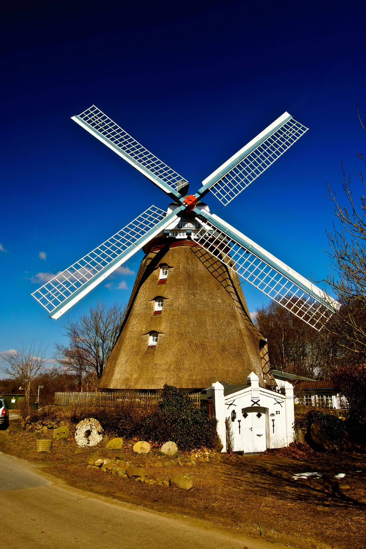 Windmühle in Nordfriesland