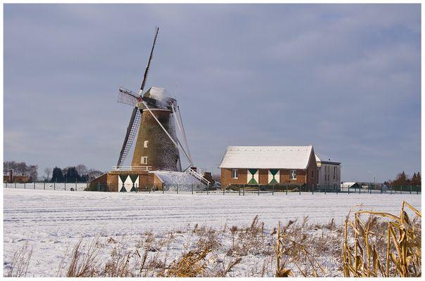 Windmühle Waldfeucht-Haaren im Schnee