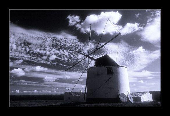 Windmühle-Westküste Portugal