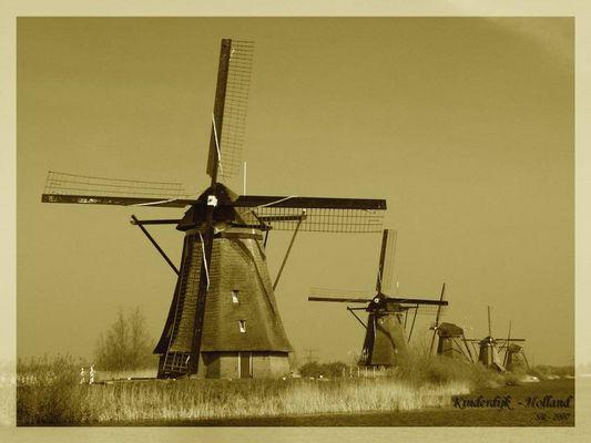 Windmühlen bei Kinderdijk