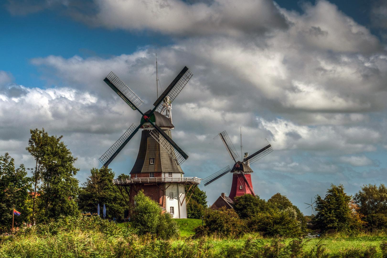 Windmühlen im Doppelpack !