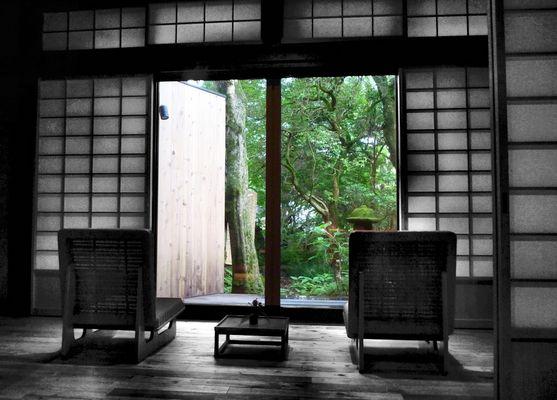 Window on garden