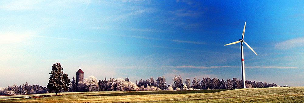 Windrad contra Baum