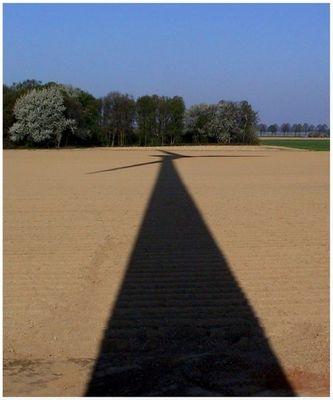 Windrad im Schatten