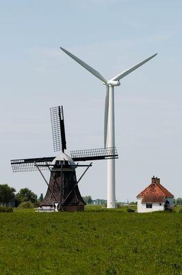 Windräder alt und neu