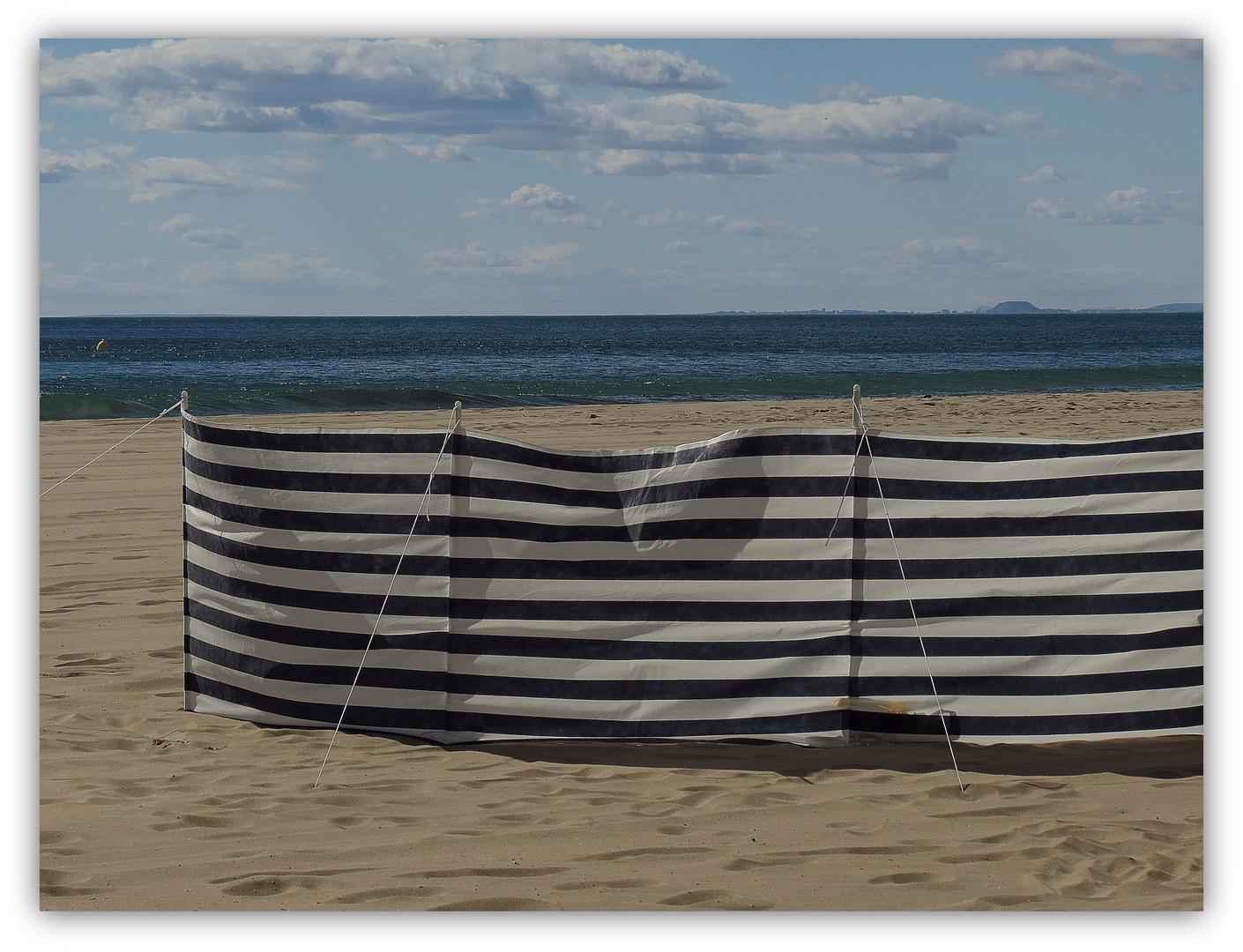 Windschutz weiß-blau