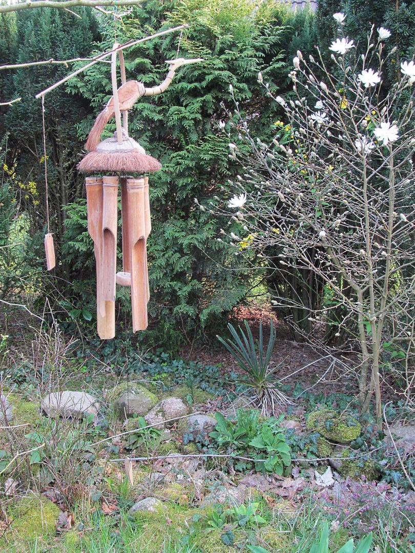 Windspiel in meinem wilden Garten