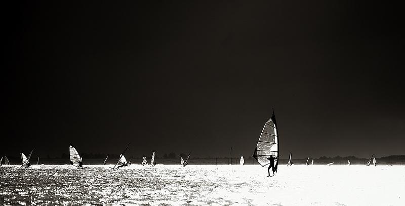 Windsurfer auf dem Grevelinger Meer