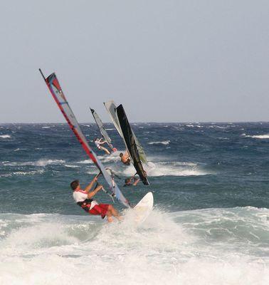 Windsurfing en El Médano (sur de Tenerife).
