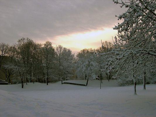 Winter 2002 in Leipzig - als es noch einen Winter gab -