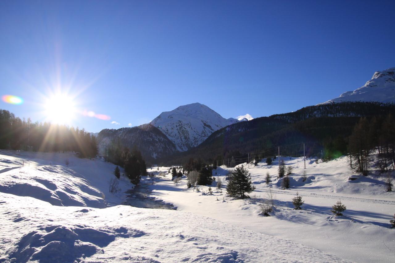 Winter 2008 bei St Moritz a
