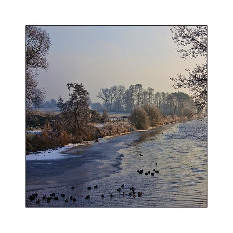 Winter 2009 im Teufelsmoor ....