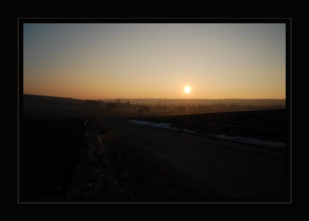 Winter - Abendsonne