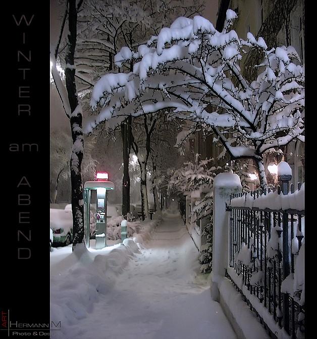 Winter am Abend