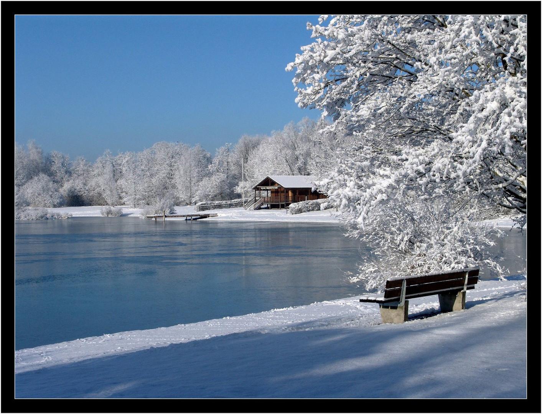 Winter am Badesee