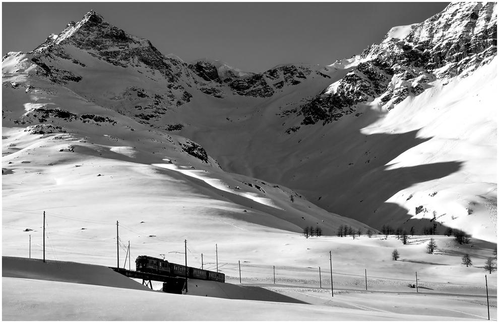 Winter am Berninpass