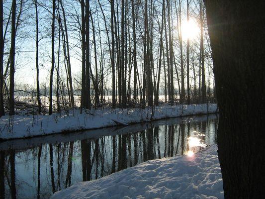 Winter am Boker Kanal