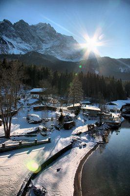 Winter am Eibsee
