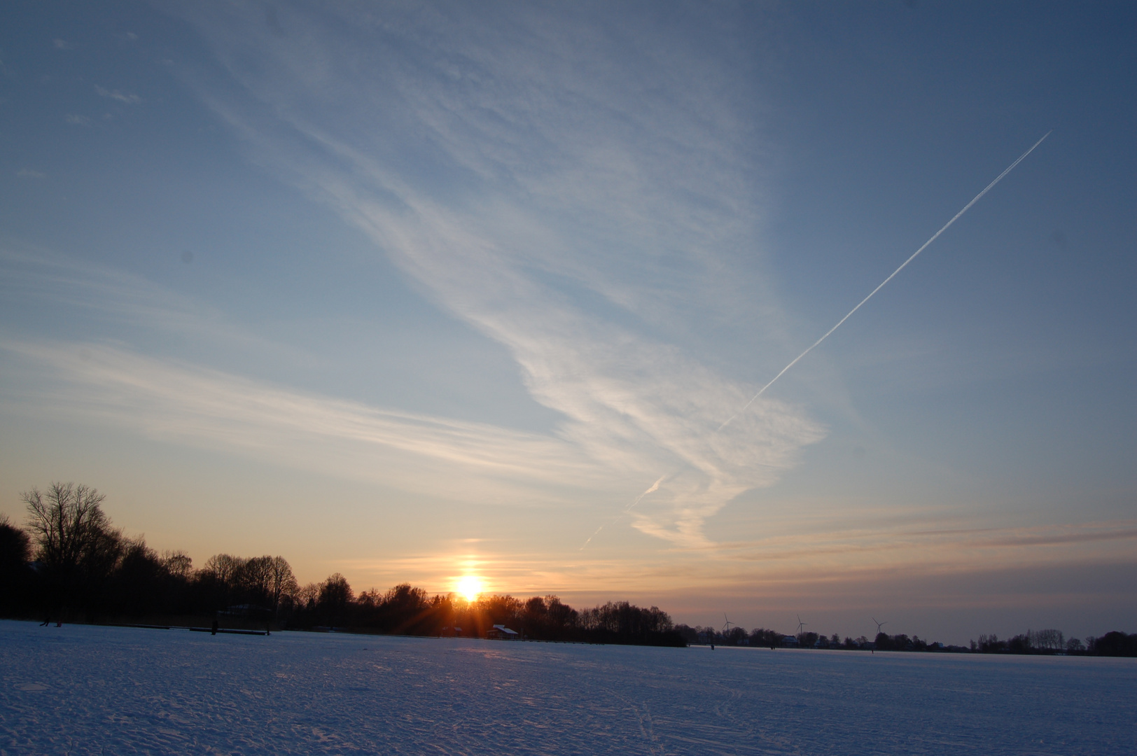 winter am einfelder see