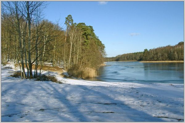 """Winter am """"Langen See"""" bei Neustrelitz"""