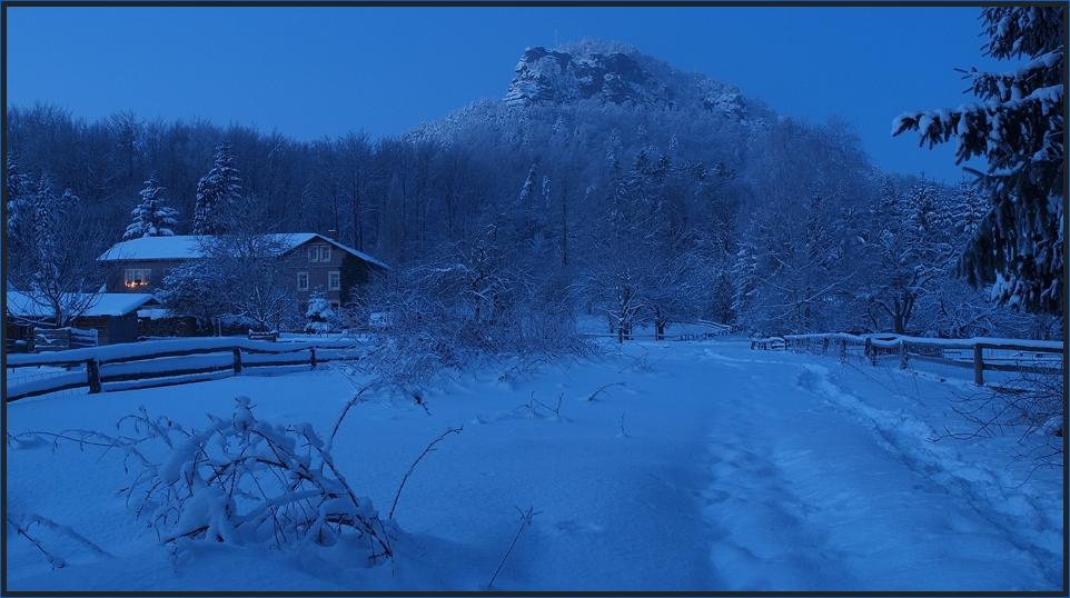 Winter am Lilienstein