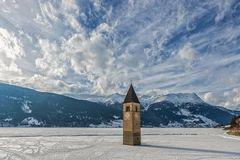 Winter am Reschensee