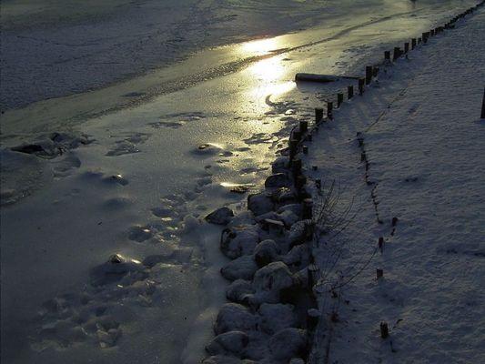 Winter am Ryck bei Greifswald