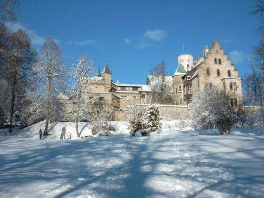 Winter am Schloß Lichtenstein