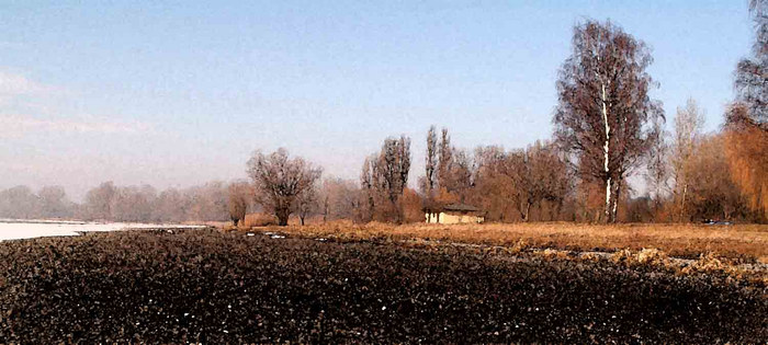 Winter am See >>> Aquarell <<< (PS)