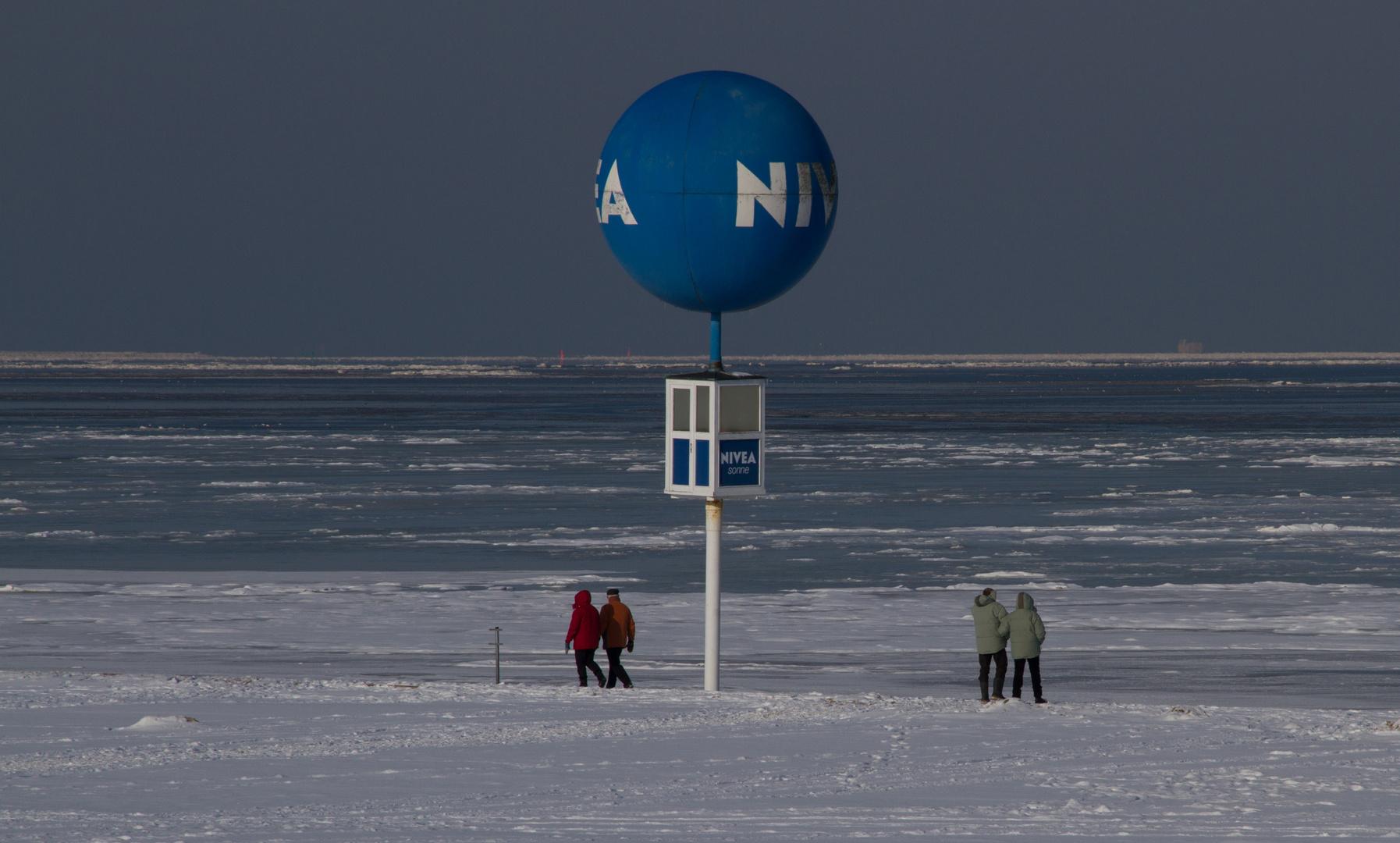 Winter am Strand von Dornumersiel