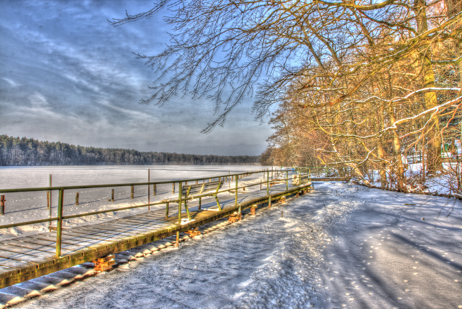 Winter am Straussee