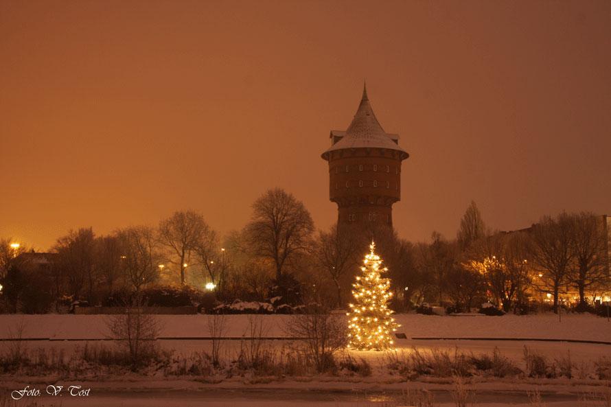 Winter am Wasserturm