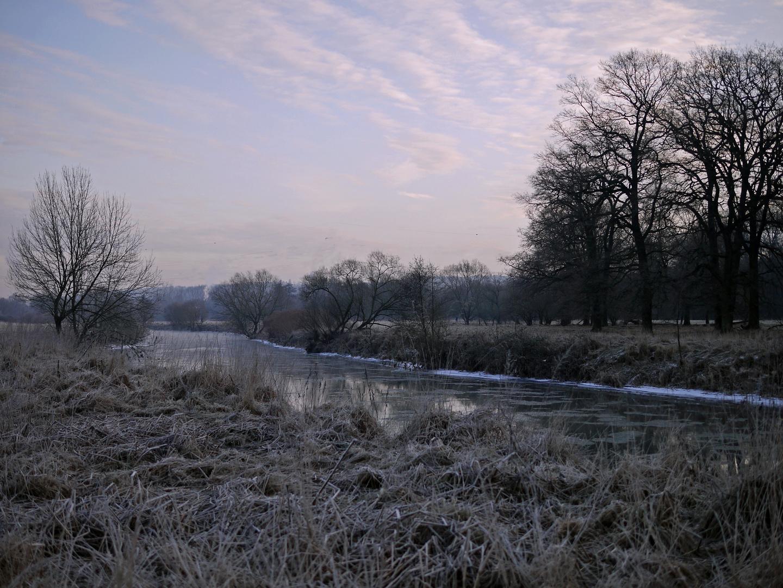 Winter an der Agger