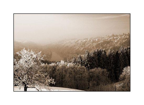 Winter an der bayerisch-oberösterreichischen Grenze