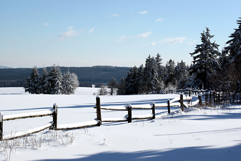 Winter an der Grenze