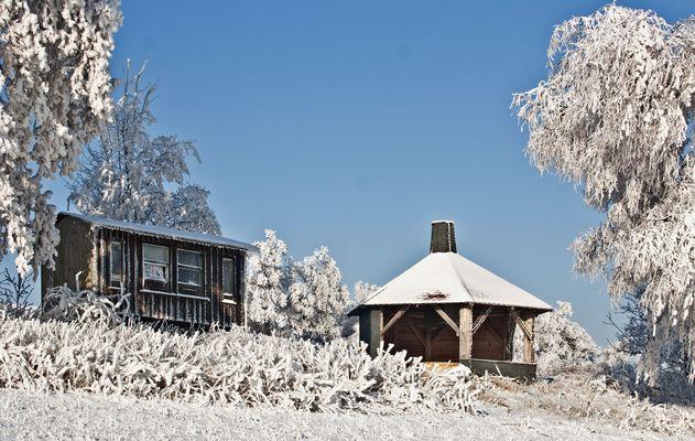 winter an der grillhütte