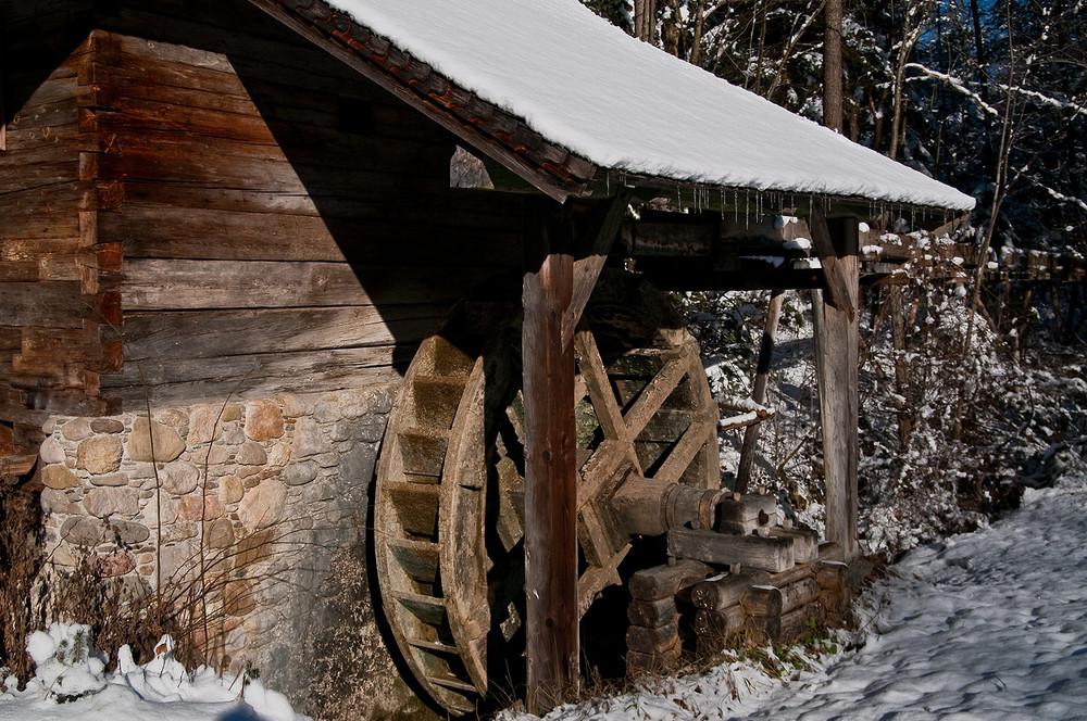 Winter an der Mühle