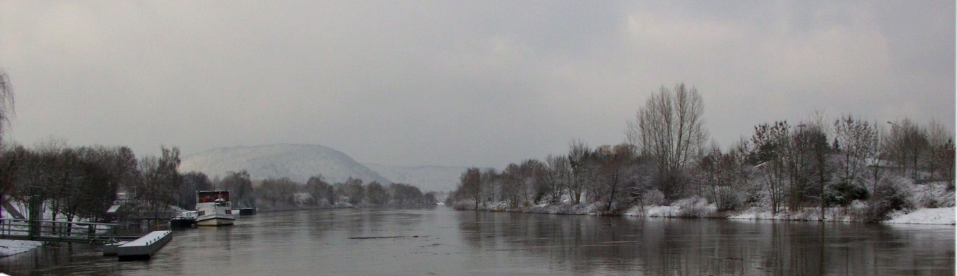 Winter an der Saar