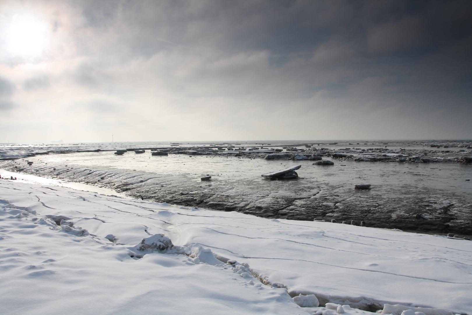 Winter an der Wesermündung II