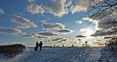 Winter anreise auf Hiddensee