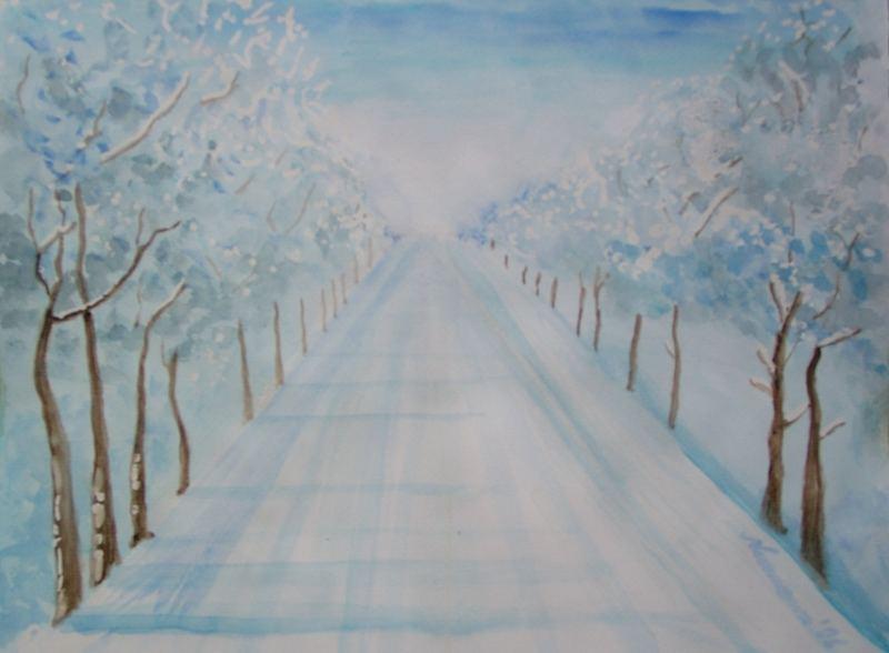 Winter Aquarell 2006