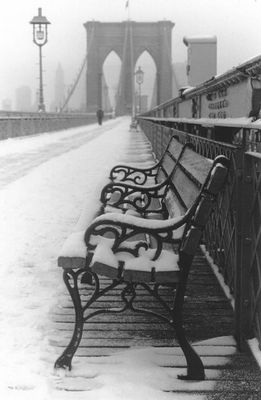Winter auf der Brooklyn Bridge