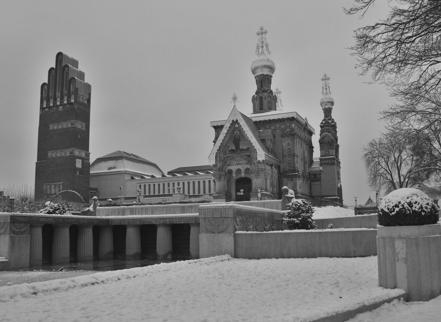 Winter auf der Mathildenhöhe