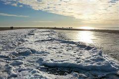 Winter auf der Sandbank